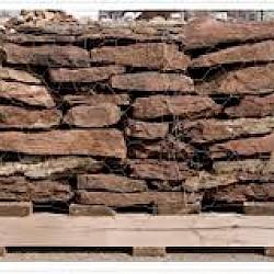 Wall Stone - Red Fieldstone Irreg